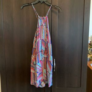 Multi colored Charlotte Russe romper with pockets